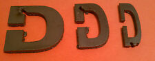 "Raw Metal Art Letter: ""D"" - Different Sizes and Fonts - Metal Steel - Unique Raw"