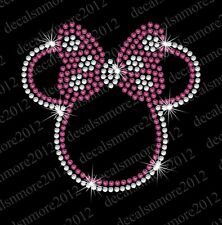 Minnie Mouse/Bow - Iron-on Rhinestone Transfer