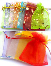100pcs Xmas Holidays Wedding Party Supply Organza Jewelry Packing Gift Bags.#GD