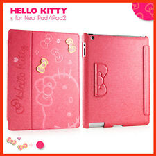 Hello Kitty Cute Smart Leather Case Cover for New iPad 4th with Retina ipad 2&3