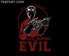 EVIL SCHOOL OF EVIL Dr. Horrible Neil Patrick Harris Joss TEEFURY T-shirt Womens