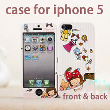 New Stylish Front & back 2in1 Full housing case cover fr iphone 5 protector skin