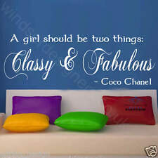 CLASSY AND FABULOUS COCO CHANEL WALL ART STICKER quote
