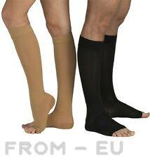 23-32mmHg FIRM COMPRESSION SOCKS Knee High Support Stockings Men Women Open Toe