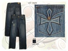 MEN'S HELIX JEANS - BRAND NEW - ALL SIZES - BOOT CUT - CROSS DISTR