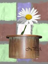 Modern Daisy flower in Copper Pot Matted Picture Home Wall Art A342