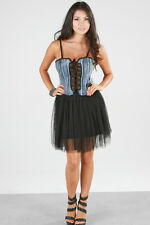 AFTERPINK New Detail corset  Denim Tube Ballerina  Dress Top Clubwear