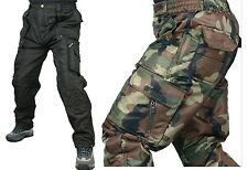 Mens waterproof warm insulated linied winter cargo army camo work trousers pants