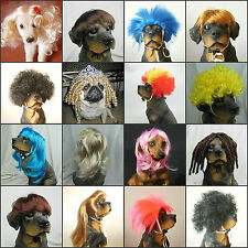 HOT SELL NEW Synthetic Pet Wig Dogs Cats Wig LOVELY Dog Cat SUPPLIER FREE SHIP