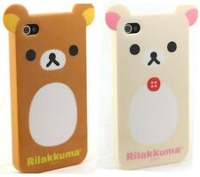 CUTE BEAR CAT RUBBER SILICONE HARD CASE COVER for APPLE IPHONE 4 4G 4S