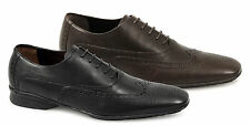 Mens Real Leather Durable Formal Wedding Dress Smart Shoes Black/Brown Size 6-12