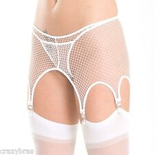 Shame On You - Stretch Fishnet Pull-on Garter Belt with Six Garters - 5 colours