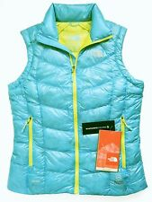 THE NORTH FACE Women Super Diez Vest S Turquoise Blue Goose Down Puffer A0JP NEW