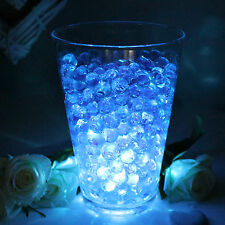 Glowing Wedding Table Decorations - LED Light with Aqua Vase Crystals