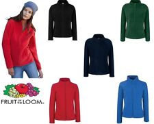 Fruit of the Loom Lady-Fit Full Zip Fleece All Sizes