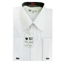 Men's french cuff dress shirt white color sizes 15 1/2-20 1/2 Sty SG03F