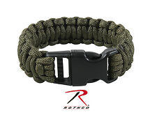 New Deluxe Olive Drab Military Paracord Survival Bracelet - 3 Sizes Available!