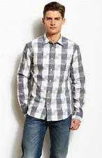 New Armani Exchange A|X Mens Slim/Muscle Fit Grey Check Button Front Shirt