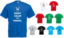 Keep Calm and Kneel printed T-Shirt, Avengers inspired Loki.
