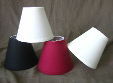 "Cotton Hardback Chandelier Lamp Shade, Clip On Lampshade,3""x6""x5"", 5 Colors"