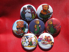 CORDUROY BEARS Comic Cartoon  NEW Set of 7 Select-a-Size of Pinback Buttons