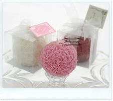 Rose Flower Ball Candle in Gift Box Wedding Garden Party