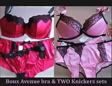 Boux Avenue bra & TWO knickers sets  chioce of styles&sizes BNWT
