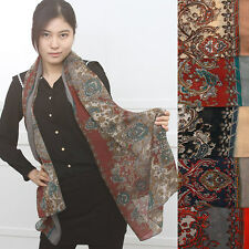 A586 4seasons Baroque Paisley printed Fashionable Fabulous SCARF NEW wrap pareo