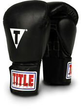Title Classic Leather Training Gloves - Hook & Loop mma muay thai boxing