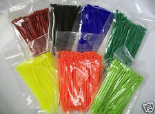 """4"""" Nylon Cable Zip Tie 18 lb 100 Count Your Choice of Color"""