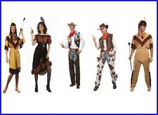 Cowboy Cowgirl Indian Wild West Fancy Dress Costume Brand New Male & Female