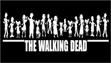 Zombie Decal Horde Stick Figures Family with The Walking Dead funny car graphic
