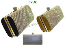 NEW LADIES WOMENS DESIGNER DIAMENTE CLUTCH BAG WEDDING EVENING PARTY PURSE