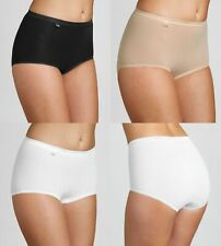 Sloggi Basic Maxi Full Brief,  4 and 3 Pack. Available in White, Black or Skin.