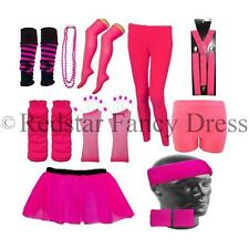 NEON TUTU 1980'S PARTY FANCY DRESS TUTU NEON BEADS HEADBANDS LEG WARMERS BRACES