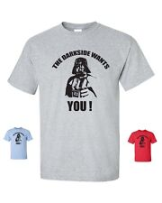 The Dark Side Wants You Star Wars Darth Vader Men's Tee Shirt