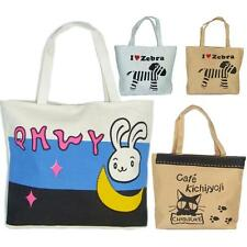 Cute New Ladies Womens Girls Canvas Shopping Tote Book College School Lunch Bag