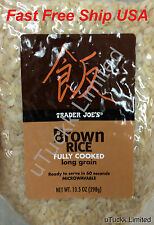 1 Bag Trader Joe's Fully Cooked Brown Rice Long Grain Microwave Ready to Serve
