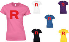 Team Rocket, Pokemon, Jessie, James Inspired Ladies' Printed T-Shirt