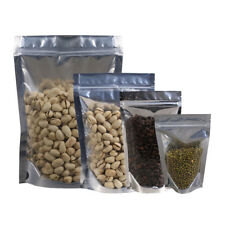 stand up Zip lock bags coffee NUT packing Silver Foil 12-50 OZ 30-100pc U pick#0