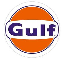 Gulf Gasoline Racing Vintage Style Vinyl Sign Decal Sticker MADE IN THE USA R43