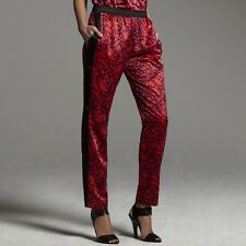 Narciso Rodriguez for DesigNation Paisley Charmeuse Pants~$48~NWT