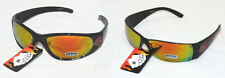 POKER SUNGLASSES Hold'Em Glasses YELLOW Mirrored Royal Flush Frames Cards UV400
