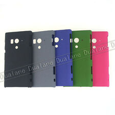 Protect Rock Dull Polish Back Skin Hard Cover Case for Sony Xperia Acro S LT26W