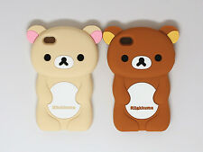 CUTE 3D BEAR SOFT RUBBER SILICONE PHONE CASE COVER FOR APPLE IPHONE 4 4G 4S