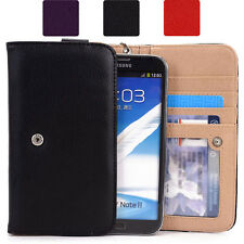 Phablet Large Clutch Purse Style Flip Slim Wallet Case Smartphone Cover Pouch