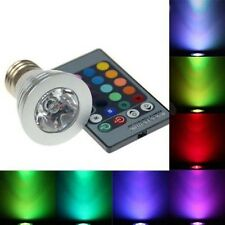 3W E27 RGB LED Spotlight Magic Color Change Light Lamp Bulb With Remote Control