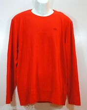 LACOSTE Mens Tank Long Sleeves Coquelicot Dyed Orange size sz L XL 6 7 NEW NWT