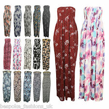 H2A New Women's Floral Print Shirring Bandeau Ladies Maxi Dress Size SM / ML