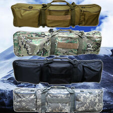 "34"" Tactical Hunting Rifle Gun Dual Padded Slip Carry Bag Carrying Case w/Pouch"